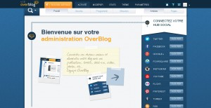 Interface d'administration de blog OverBlog