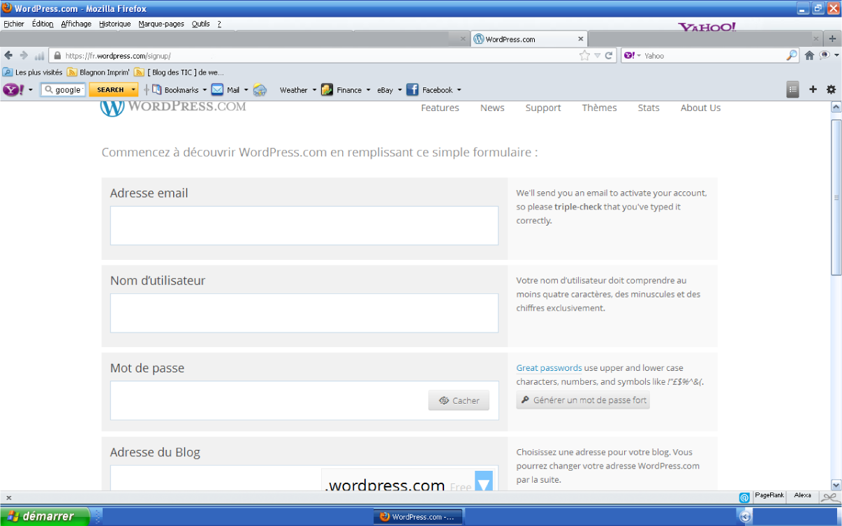 Create blog1 web editions le blog for Build blog