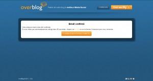 Email OverBlog confirmé