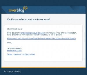 Demande de confirmation OverBlog