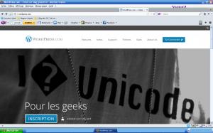 Interface de création de blog wordpress.com