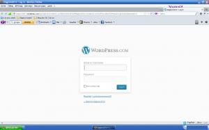 Interface de connexion au blog