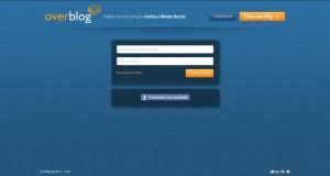 Interface de connexion de blog