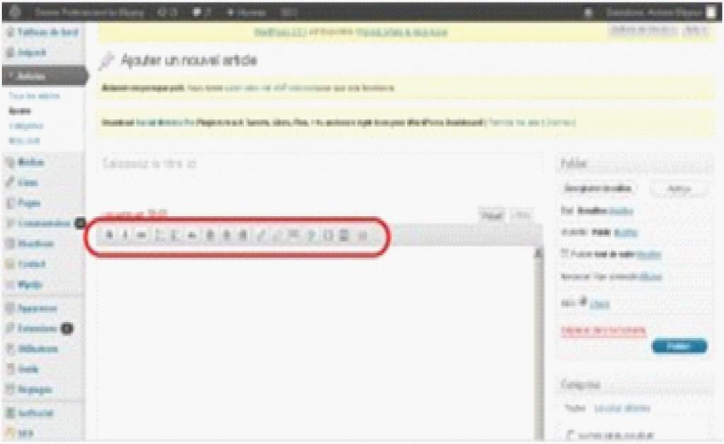 Menu de mise en page WordPress