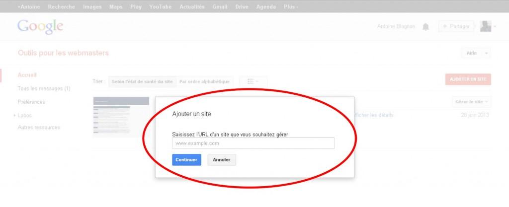 Interface d'ajout de blog pro