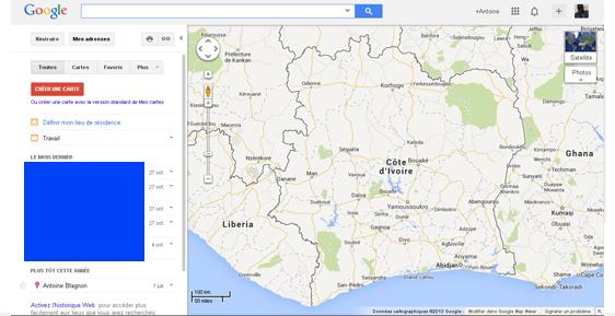 Créer une carte Google Maps